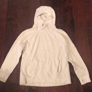Lululemon white hooded sweatshirt